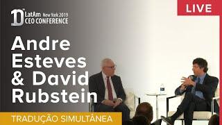 10° CEO Conference New York 2019: André Esteves e David Rubenstein-PT