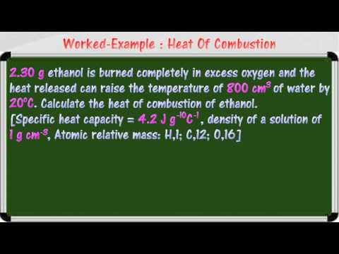 [4.5] Heat of combustion