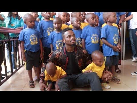 DIAMOND VISITS VISUALLY IMPAIRED CHILDREN IN RWANDA