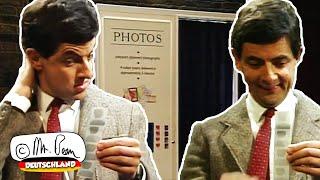 Wie sehen die Bilder von Mr. Beans Fotokabine aus?