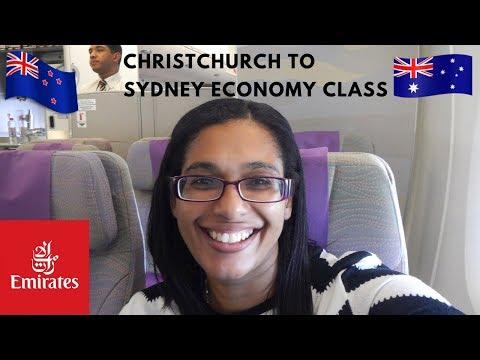 Emirates Christchurch to Sydney in economy class | EK413 flight review