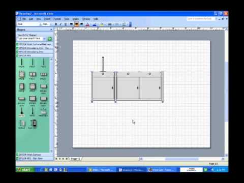 How To Use Fp2 Visio Shape Front Elevation View Youtube