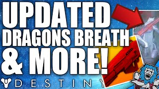Destiny: Updated Dragons Breath & Red Death? - Exotic Void & Arc Swords? & Much More!