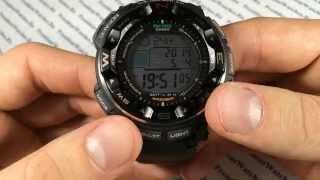 Як налаштувати ProTrek годинник Casio PRW-2500-1E - інструкція від PresidentWatches.Ru