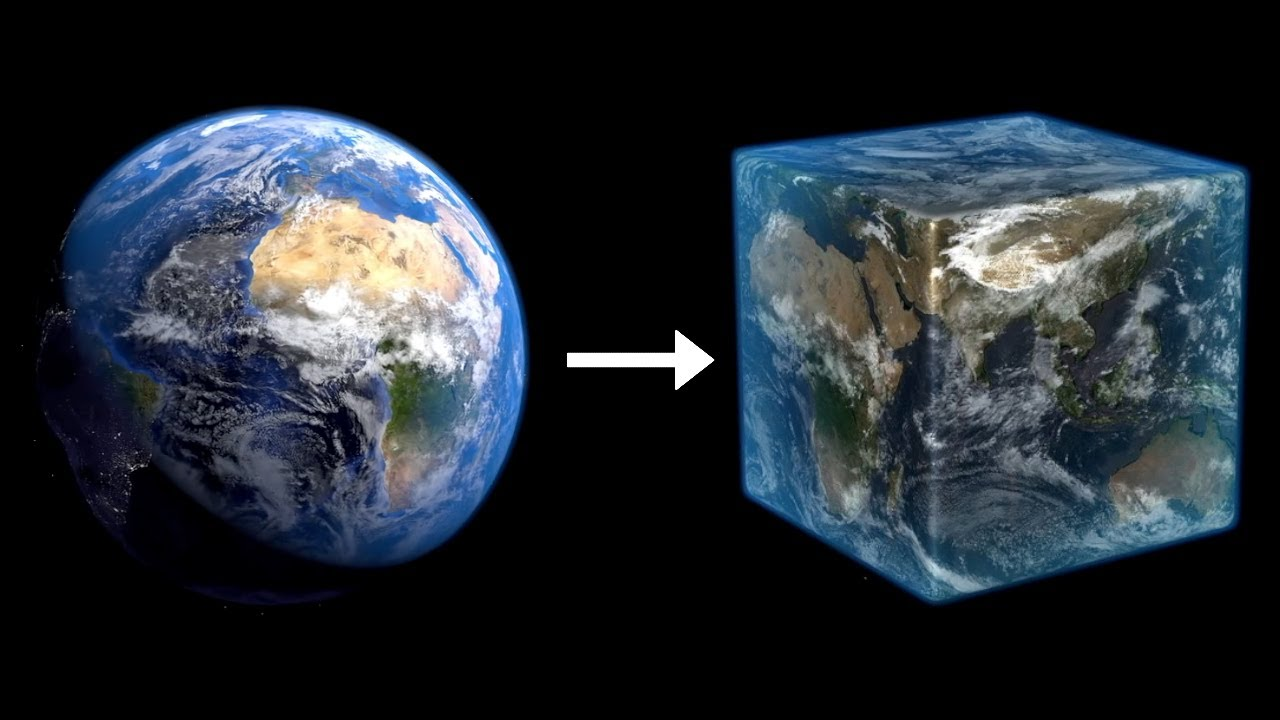 The Earth in Minecraft, 100:100 scale for the first time. - YouTube