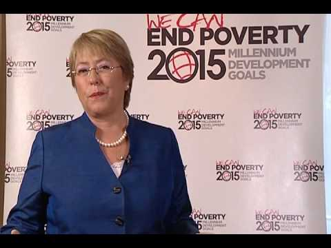 Former President of Chile Michelle Bachelet Speak Out on MDGs
