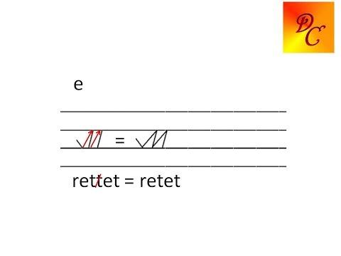 Stenografie lernen - Lektion 1 -  t, b, r - Dominique Clarier