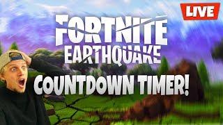 FORTNITE EARTHQUAKE LIVE EVENT! COUNTDOWN TIMER // GIFTING LIGHTSHOW! (FORTNITE BATTLE ROYALE)
