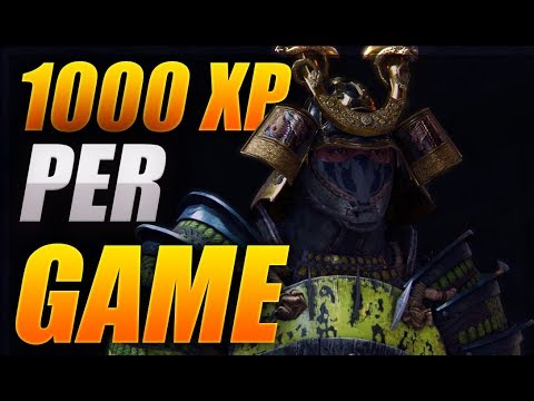 1000 xp per game level up fast for honor season 6 youtube - When is for honor season 6 ...