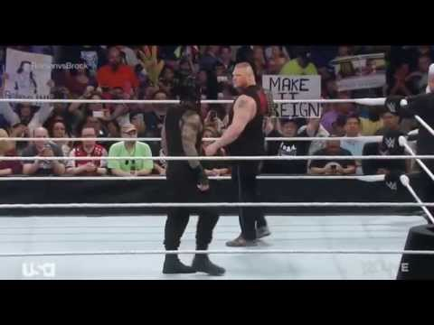 Roman Reigns confronts Brock Lesnar face to face: Raw, March 23, 2015 thumbnail