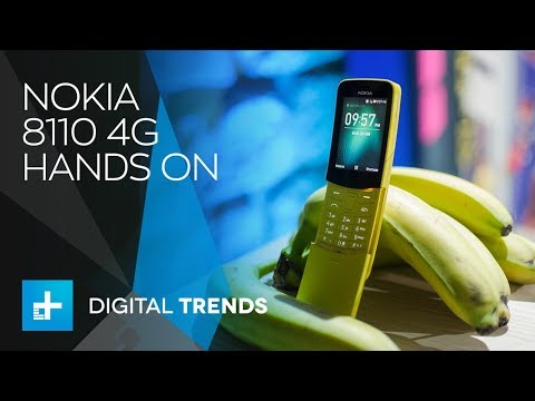 Nokia 8110 4G Feature Phone – Hands On at MWC 2018