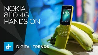 Nokia 8110 4G Feature Phone - Hands On at MWC 2018