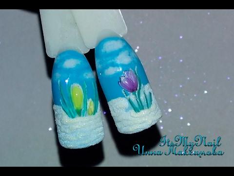 фото дизайна ногтей шеллаком весна