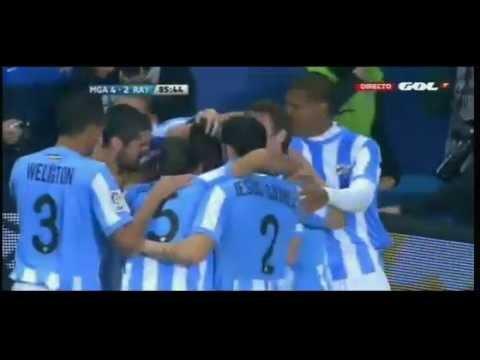 """Golazo Duda""  Malaga vs Rayo Vallecano 4 - 2 (22/03/2012)"