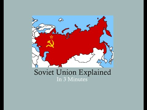 Soviet Union Explained - in 3 minutes