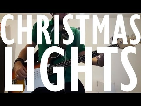 Coldplay Christmas Lights Bass Cover Youtube