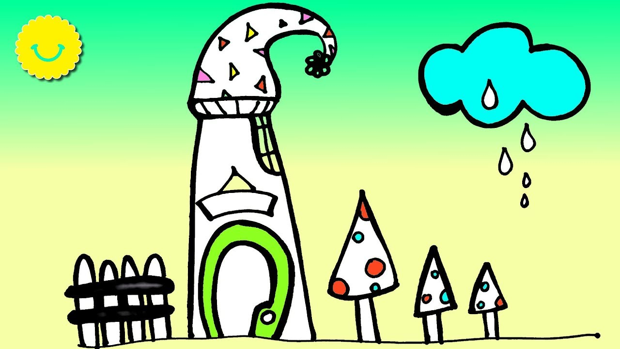 My Magic House Coloring Pages for kids How to Draw