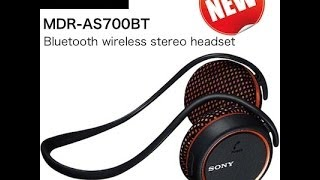 The Smart Way To Listen To The Music - SONY MDR-AS700BT BLUETOOTH HEADPHONES
