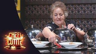 Lacrimi și emoție la Chefi la cuțite! Elisabeta Ene, mătușa lui Scărlătescu îi face o surpriză