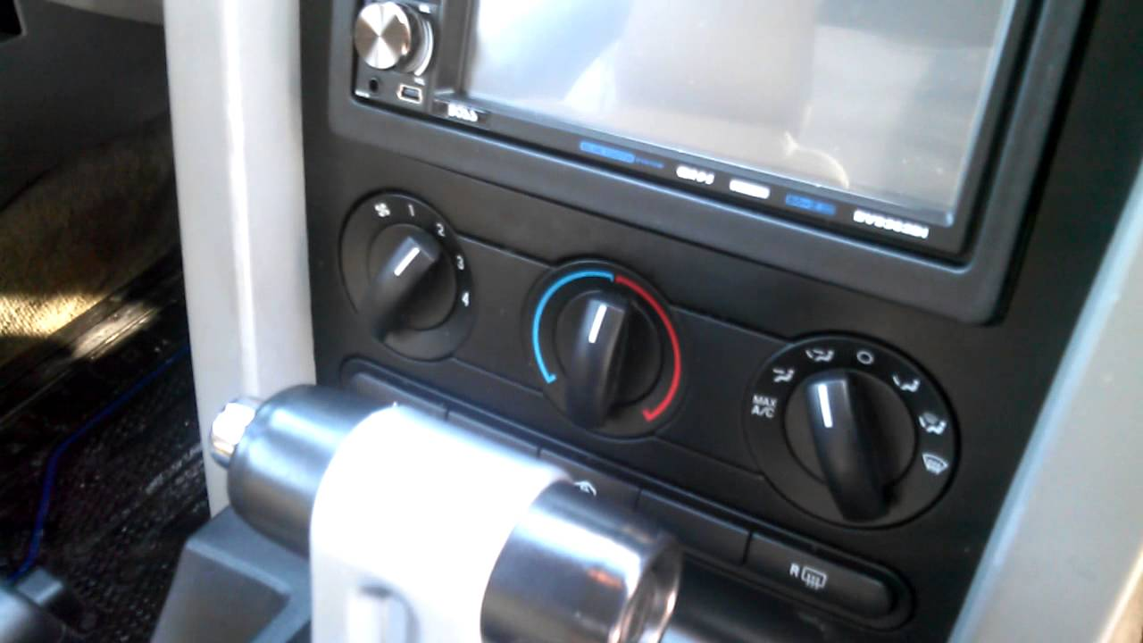 Installed Double Din In 2005 Ford Mustang