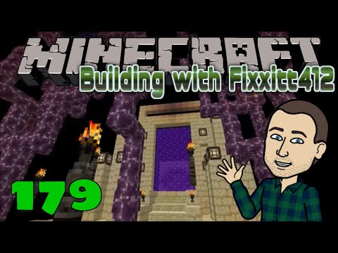 Minecraft - Building with Fixxitt412: 179 Fixing Portal Sync Issues and Ice Cave