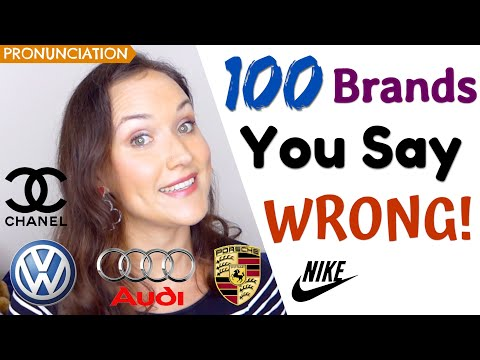100 Brand Names You Pronounce WRONG! |  (How to say brands in English)
