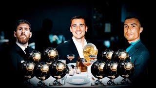 Griezmann come en la mesa de Messi y Cristiano