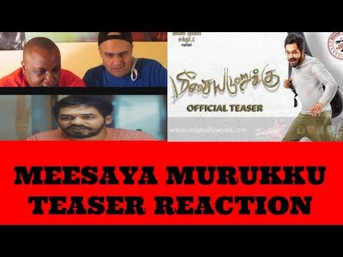 Meesaya Murukku (Tamil) Teaser Reaction   Hiphop Tamizha   Sundar C