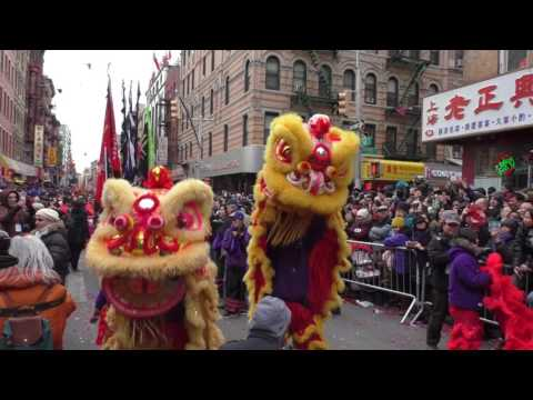 Chinese Lunar New Year~Chinatown, NYC~2017~Staten Island Lions Rock the Parade~NYCParadelife.com