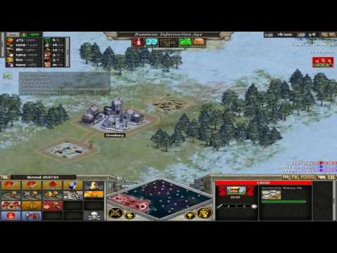 Rise of Nations: Extended Edition - Tougher AI Match Part 1: