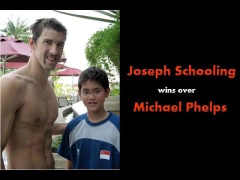 Joseph Schooling wins over Michael Phelps
