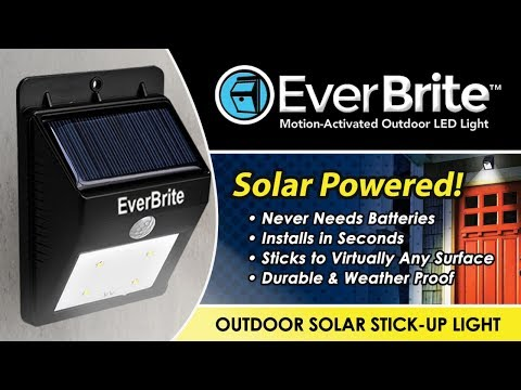 EVERBRITE  - Motion-activated, Solar-powered LED Light
