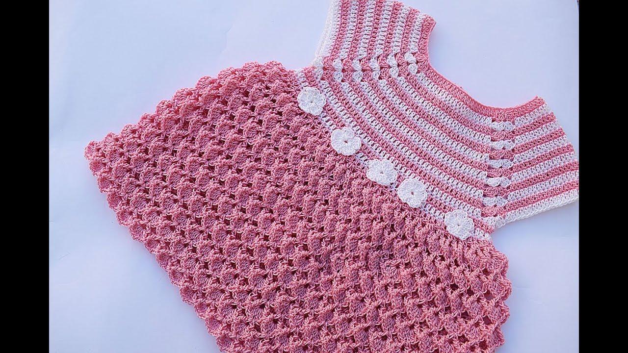 67ab97bc5 Crochet girl dress very easy - YouTube