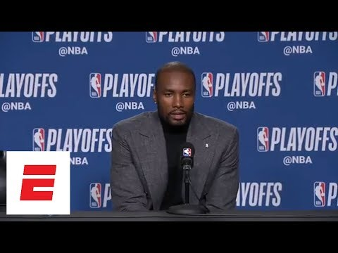 Serge Ibaka answers questions after the Raptors' Game 1 win in 3 different languages   ESPN