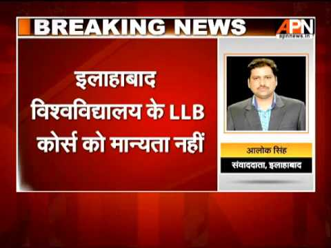 3 years LLB course from Allahabad Univ. is invalid?