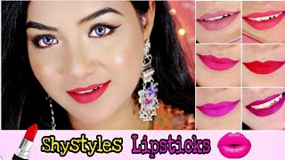 Shy Styles Liquid Lipsticks - The Makeup Story || Wear Test + Swatches || Honest Review