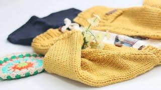 B172 겨자색 래글런 아기가디건 - 대바늘 뜨개질