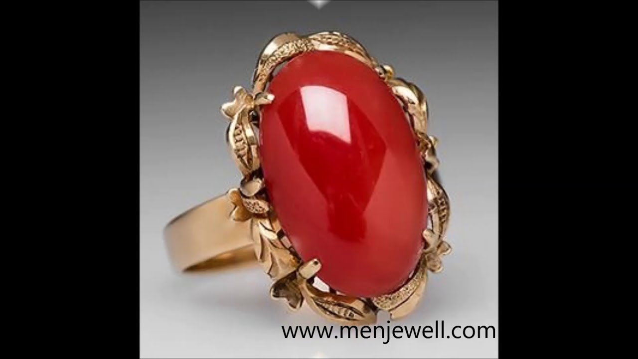 Latest Jewellery Coral Munga Ring Design Collection For
