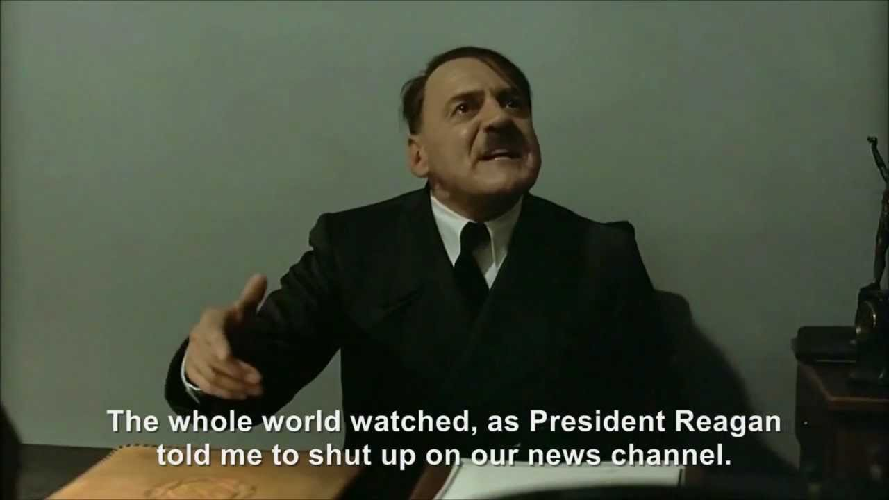 Hitler disrupts President Reagan's speech