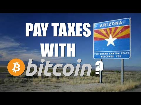 FIRST STATE TO ALLOW TAX PAYMENTS IN BITCOIN?