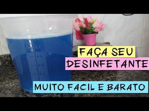 COMO FAZER DESINFETANTE MUITO FACIL - 8 LITROS COM R$ 3,50