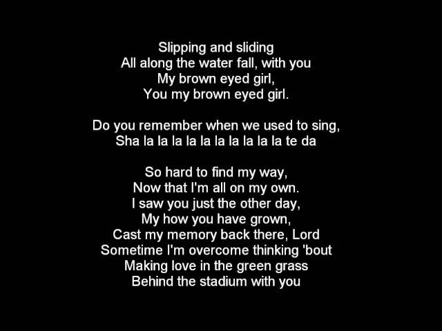 Van Morrison - Brown Eyed Girl lyrics