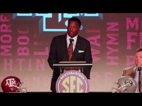 Kevin Sumlin speaks at SEC Media Days