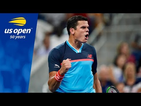 Milos Raonic's Earns Straight Set Win Over Stan Wawrinka at the 2018 US Open