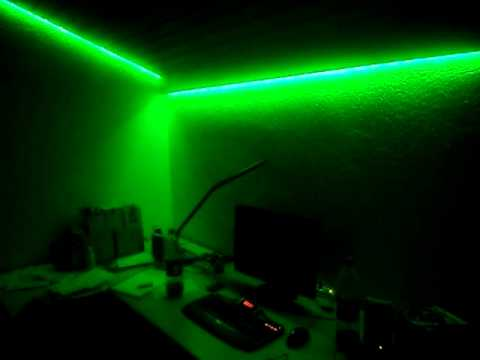 rgb led strip im zimmer youtube. Black Bedroom Furniture Sets. Home Design Ideas