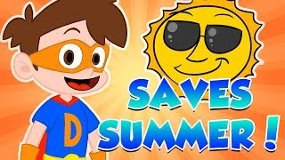 Drew's Summer Adventures! Drew Saves Cool School's Summer! | Compilation
