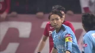 小林 悠(川崎F)が右サイドを突破した味方選手からのクロスをワンタッ...