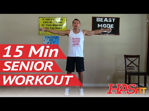 15 Min Senior Workout - HASfit Exercise for Elderly - Seniors Exercises for Elderly - Seniors