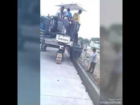 Kerb casting on PQC road construction