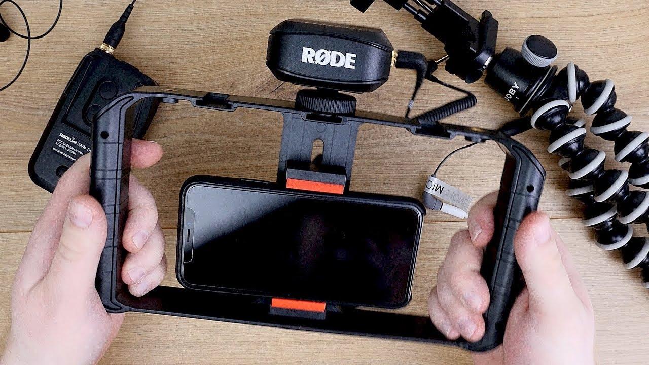 externes funk mikrofon am smartphone bzw handy iphone anschlie en rode filmmaker kit youtube. Black Bedroom Furniture Sets. Home Design Ideas